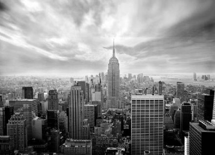Skyline New York BW wall mural